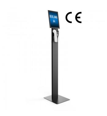 Bezdotykowy dozownik płynu do dezynfekcji rąk stand z reklamą / logo ABS DOZ-002ABS